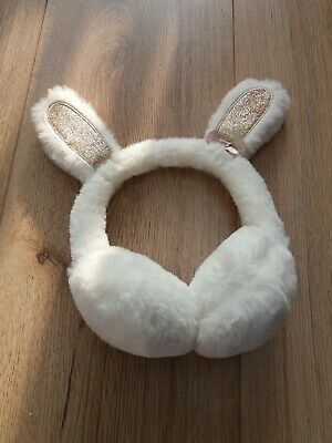 Girls White Ear Muffs