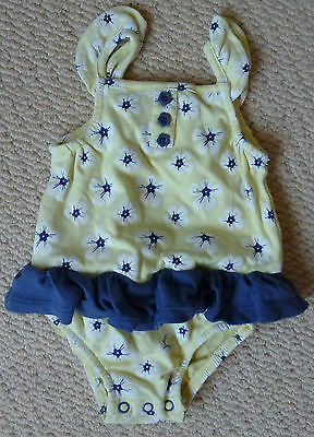 Girls Floral Summer Romper Sunsuit with Frilly Detail Size 00