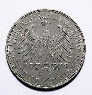 1957 Germany - Federal Republic Two 2 Deutsche Mark Max Planck - Lot 715