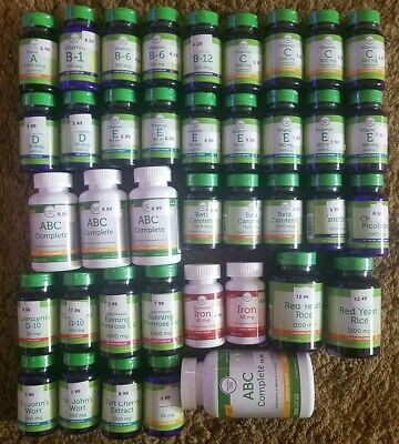 Vitamins Supplements Tablets Soft gels Capsules Dietary Health Energy 24 choices