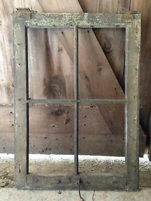 Old Vintage 4 Pane Antique Wood Window Frame