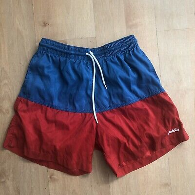 cf7e26c4d014b Chubbies mens swim trunks size Large with lining made in USA red blue shorts