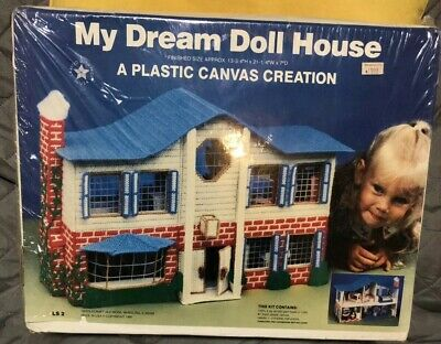 My Dream Doll House (A Plastic Canvas Creation Kit) SEALED Needlecraft 1991 New
