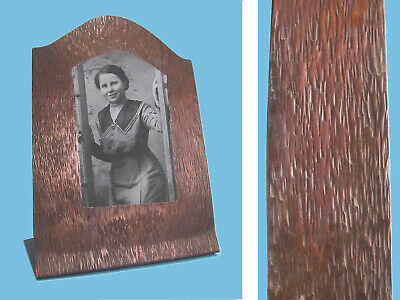 Arts Crafts Mission copper picture frame studio made ORGANIC TREE BARK TEXTURE