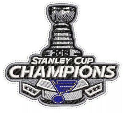 2019 St. Louis Blues Stanley Cup Champions NHL Jersey Patch Champs Iron / Sew On