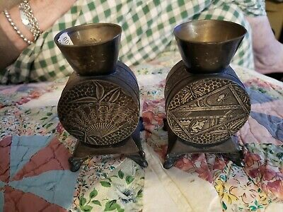 Pair of Antique Eastlake/Aesthetic Victorian  Candle Holders.