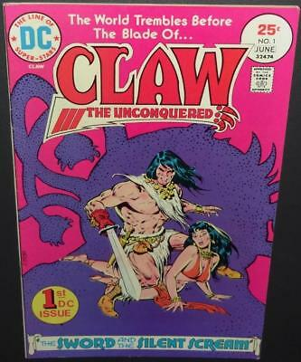 Claw The Unconquered #1 1975 DC 7.0 1st appear Claw (Conan-like) BV$7 45%Off