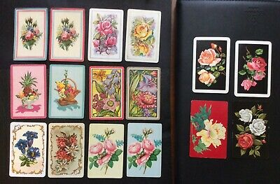 Swap Playing Cards - Gorgeous Flowers - Bulk Mixed Vintage Retro Antique Modern