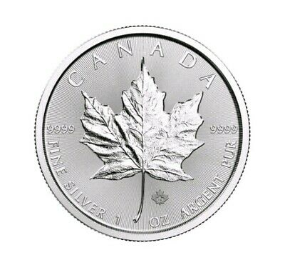Canada silver maple leaf coin 9999 argent pur 5 $ 2018