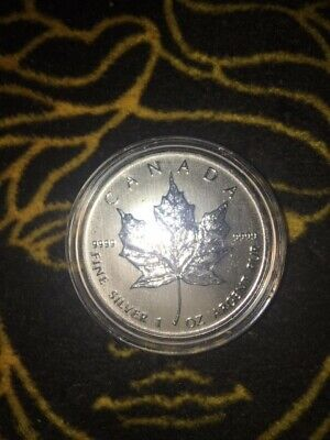 2013 1oz Canadian Maple Leaf $5 .9999 Fine Silver Coin