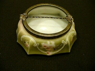 Antique C F Monroe Nakara Wave Crest Box NR
