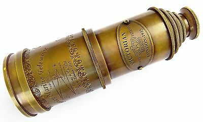 Brass Telescope Victorian 1915 Marine Nautical Hand Held Telescope 20 Inch Gift