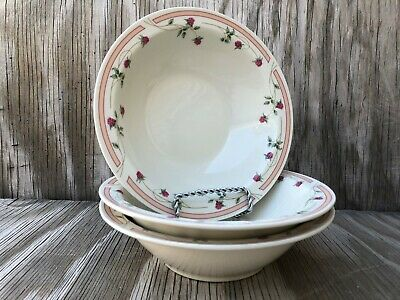 Gibson Dishes Strawberry Soup, Cereal Or Salad Bowls Set Of 3