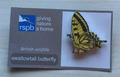 Collecting Bird Badges SWALLOWTAIL BUTTERFLY Pin Badge.(FR).