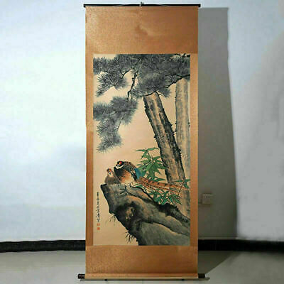 Vintage Long Scroll Chinese Landscape Painting Marks WangXueTao China Asia