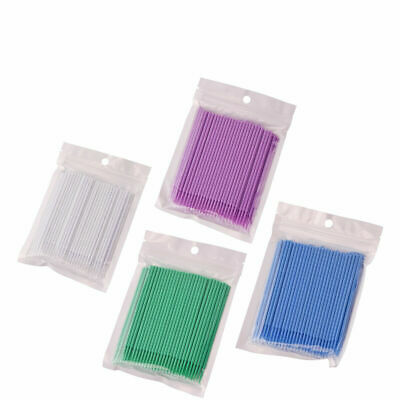100x Dental Disposable Materials Micro Brush Tooth Applicators 1.2/1.5/2.0/2.0mm