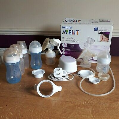 Philips Avent Electric Breast Pump And Manual Breast Pump With Spare Bottles