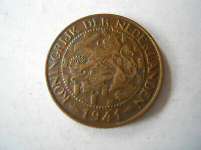 1941 Netherlands 1 Cent Coin