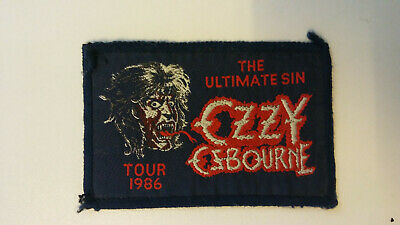 USED Ozzy Osbourne the ultimate sin tour VINTAGE patch Sew On music aufnaher