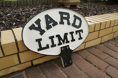 Railway yard limit sign ex SAR in cast iron