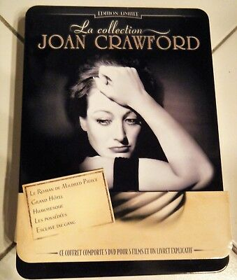 La Collection Joan Crawford Coffret Métal Warner Collector 5 Films 5 Dvd Tbe