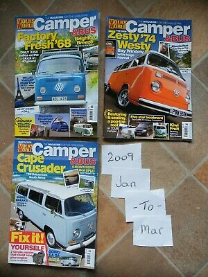 VOLKS WORLD CAMPER and Bus VW Magazines issues Jan to Mar