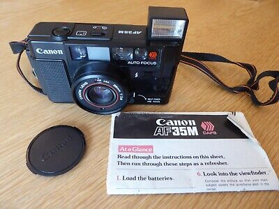 Canon AF35M CAFS Autofocus 35mm film camera + instructions **100% charity**