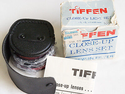 TIFFEN 55mm CLOSE UP FILTERS +1 +2 +4 Filter JAPAN  MINT