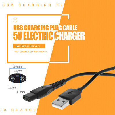 USB Charging Plug Cable 5V Adapter Electric Charger for Shavers Barber
