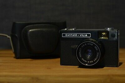 Vintage Lomo Vilia 35mm Camera, Triplet-69-3 40mm f/4 Coated Lens, Original Case