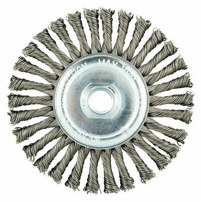 NORTON 66252839111 Wire Wheel Brush,Twisted,Carbon Steel