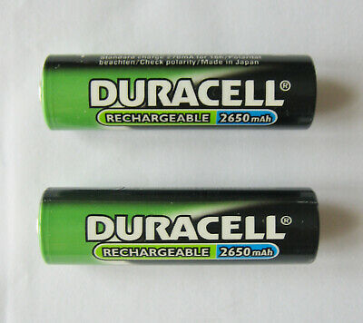 DURACELL 2xAA STILO Ricaricabili/Rechargeable Ni-MH 2650 mAh - Made in Japan