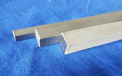 Square Stainless Steel T304 Rod Bar 6mm, 10mm, 12mm, Lengths 50 to 600mm long