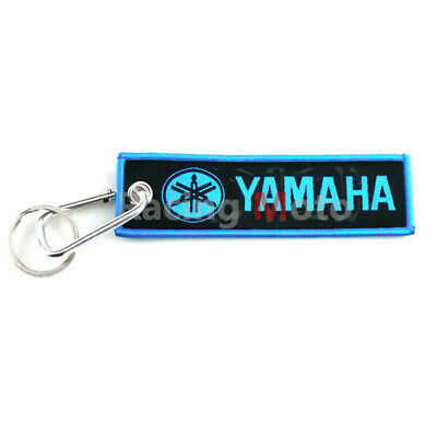 Motorcycle Keychain Key Tags Racing Keyring For Yamaha YZF MT Blue Cool Gift