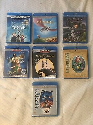 Disney Blu-Ray And DVD Starter Pack / No Digital/ Aladdin, Little Mermaid N More