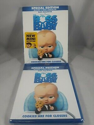 BOSS BABY (Blu-ray/DVD, 2017, Includes Digital Copy) NEW WITH SLEEVE