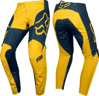 2019 Fox PRZM 180 Motocross MX Race OffRoad Pants NAVY YELLOW Adults