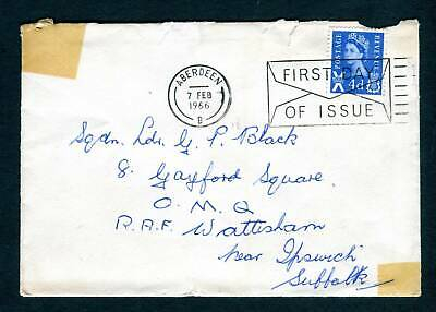 1966 GB Scotland FDC. 4d Regional Definitive. Aberdeen First Day Cover