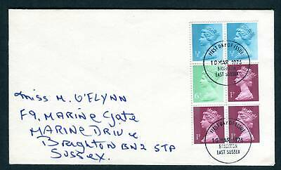 1977 GB FDC. X841r Machin Booklet Pane. Brighton, East Sussex First day Cover