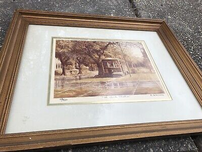 "James Hussey, ""St. Charles Streetcar"", Signed And Numbered Colored Lithograph"