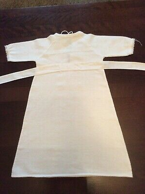 Vintage White Flannelette Cotton Lace  Baby Childs Nightdress Gown 0-3 Months