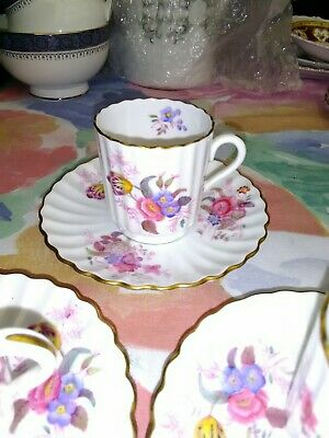 3 x Spode Copelands Coffee Cans With Saucer