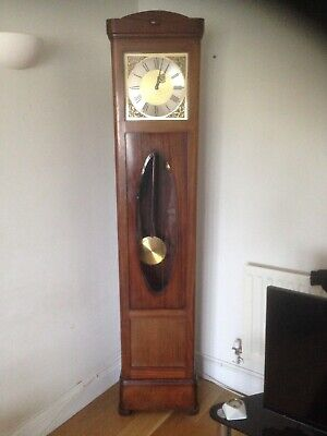 Grandfather clock H.A.C made in Wurttemberg. Good working condition.