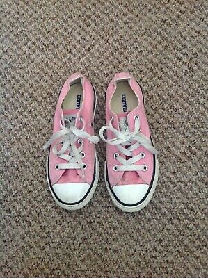 Converse All Stars girls pink trainers pumps size 12