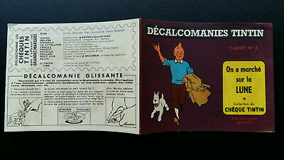 Tintin Kuifje Tim Décalcomanies version classique n°3 Lune complet quasi neuf