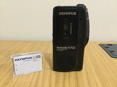 Olympus S-702 Pearlcorder Micro Cassette Tape Recorder Memo Dictaphone VGC