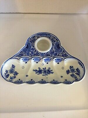 Delft Inkwell - With Insert and Cover - Blue / White
