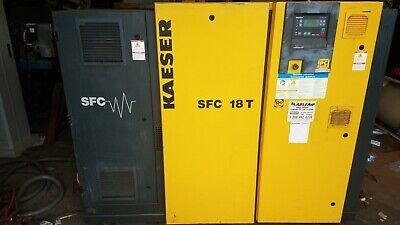 Kaeser SFC 18 T 25hp Rotary Screw Air Compressor VSD VFD Variable Speed + Dryer