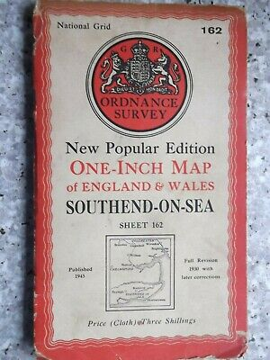 Ordnance Survey New Popular map Southend-on-Sea.Cloth.