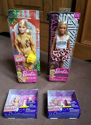Barbie Dolls x 2 (Fashionista and You Can Be Anything) + 2 x Barbie Skipper, NEW
